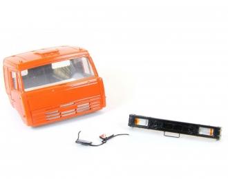 (Уценка!) Спальная кабина для КАМАЗ (Евро-2, плоский бампер), темно-оранжевый