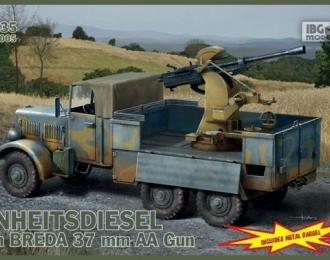 Сборная модель Einheitsdiesel with 3,7 cm Breda