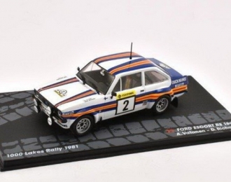 FORD Escort RS 1800 #2 Чемпион мира A.Vatanen/Richards победитель Rally 1000 Lakes 1981