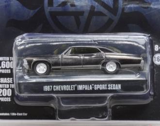 Chevrolet Impala Sport Sedan 1967 черный из сериала Сверхестественное (Supernatural) черный/хром
