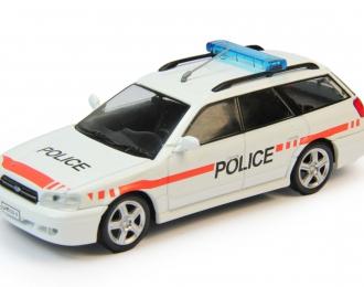 SUBARU Legacy Полиция Швейцарии, Полицейские Машины Мира 58, белый