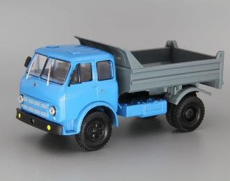 МАЗ-503А самосвал (1975), голубой / серый