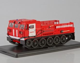 Артиллерийский гусеничный тягач АТС-59Г пожарный г.Тольятти, красный