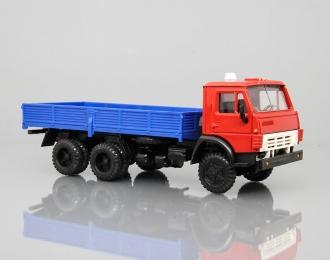 КАМАЗ 5320 без тента, красный / синий