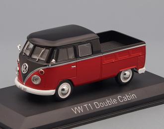 VOLKSWAGEN T1 Double Cabin (1961) red / black