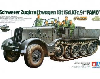 Сборная модель 18-тонный тяжелый полугусен. тягач FAMO с 8 фигурами