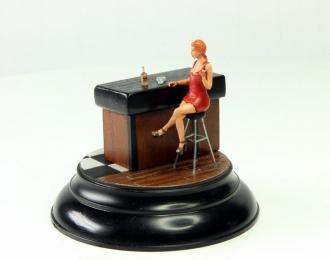 Девушка в баре (виньетка)