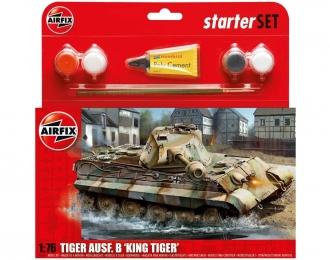 Сборная модель Немецкий тяжелый танк Sd.Kfz.182 Kingtiger (Porsche Turret) (Подарочный набор)