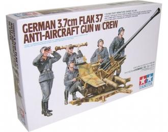 Сборная модель Немецкая зенитка 3.7cm FLAK37 с пятью фигурами