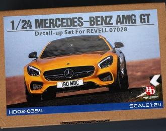 Набор для доработки Mercedes-Benz AMG GT Detail-UP Set для моделей R 07028 (PE+Resin+Metal Logo)