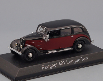 PEUGEOT 401 Longue Taxi (1935), dark red / black