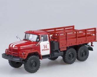ЗИЛ 131 бортовой пожарный ПЧ-14 г. Ярославль, красный