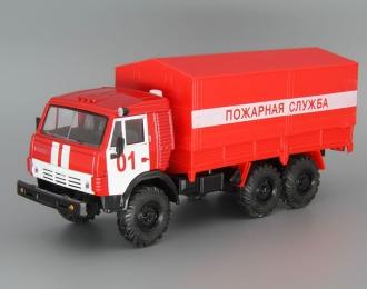 КАМАЗ Пожарная Служба, красный / белый