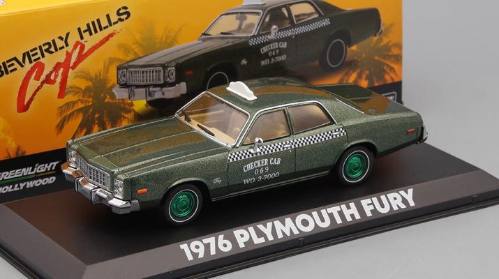 "PLYMOUTH Fury Taxi Checker Cab 069 WO.3-7000 (из к/ф ""Полицейский из Беверли-Хиллз"") (Greenlight!)"
