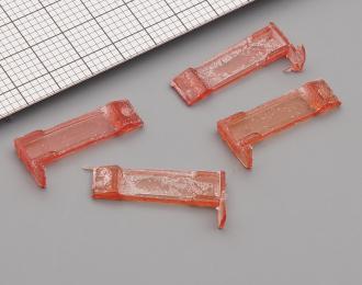Фонари задние МОСКВИЧ 408 / 412 (Саратов, бледно-красные), комплект 2 пары