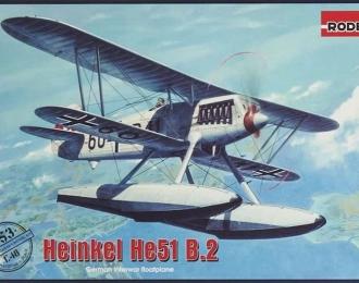 Сборная модель Немецкий самолет Heinkel He-51 B.2