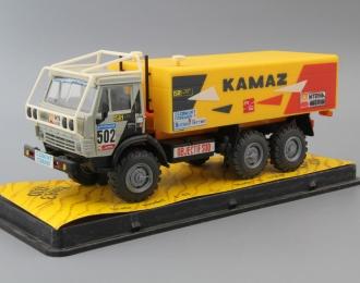 Камский грузовик 4310 #502 Ралли Objectif Sud, серый / желтый