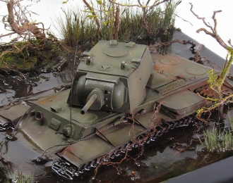 Танк КВ-1 (застрявший)