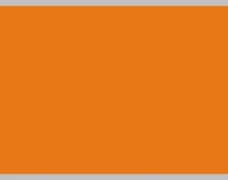 Декаль Цветовое поле (оранжевый), 195x85