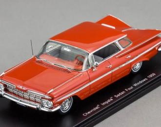 CHEVROLET Impala Sedan Four windows (1959), red