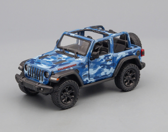 JEEP Wrangler Open (2018), camouflage blue
