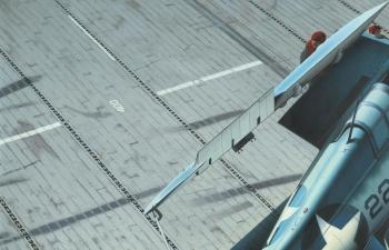 """Сборная модель Основание для диорамы """"Палуба американского авианосца"""""""