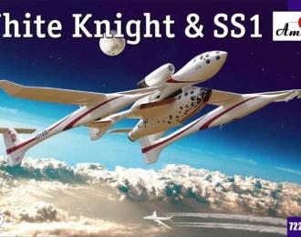 Сборная модель Американский самолет-носитель White Knight и суборбитальный пилотируемый космический корабль Space Ship One