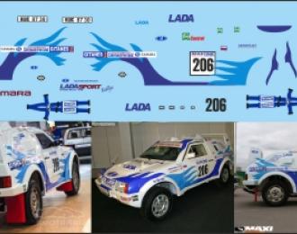 Набор декалей Волжский автомобиль Lada Samara T3 Dakar
