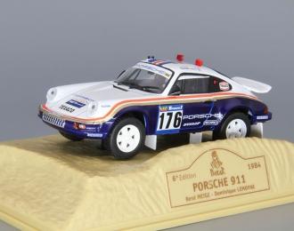 PORSCHE 911 #176 Rene Metge - Dominique Lemoyne (1984), blue / white