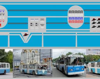 Набор декалей Полосы для троллейбусов голубые (100х290)