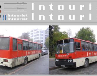 Набор декалей Inturist для Икаруса (вариант 2), белый (200х30)