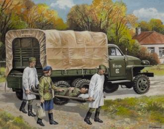 Сборная модель Icm  «Студебекер» Us6 с советским медицинским персоналом