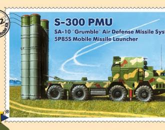 Сборная модель С-300ПМУ зенитная ракетная система ПВО пусковая установка 5П85С