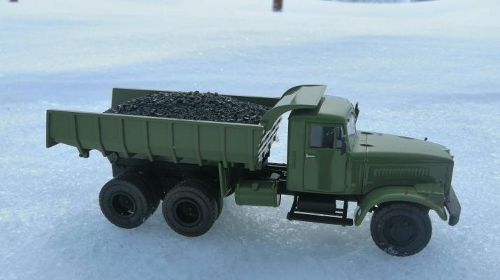 Груз в кузов Уголь для КрАЗ 256В (АИСТ, SSM, Modimio)