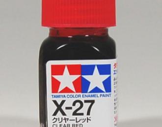 Лак красный прозрачный X-27 эмаль, 10 мл