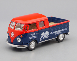 VOLKSWAGEN Bus Double Cab Pickup Delivery Services (1963), red / blue