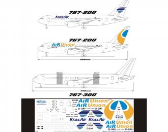 Декаль на самолет боенг 767-200ER (Альянс Айр Юнион 2008/Крас Айр)