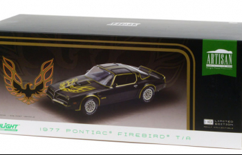 PONTIAC Firebird Trans Am 1977 Starlite Black with Golden Eagle Hood