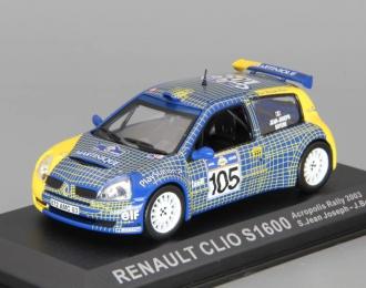 RENAULT Clio S1600 #105 S.Jean Joseph - J.Boyere Acropolis Rallye (2003), blue