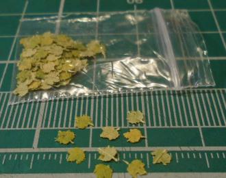 Листья для диорам Клен желто-зеленый