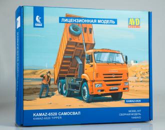 Сборная модель Камский грузовик 6520 самосвал