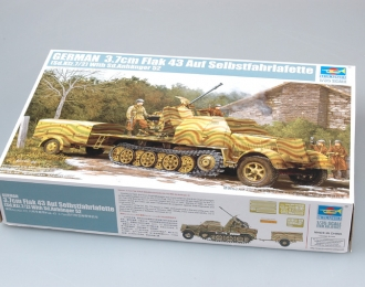 Сборная модель Немецкая ЗСУ 3.7cm Flak 43 на базе Selbstfahrlafette (Sd.Kfz.7/2)