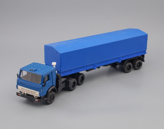 Камский грузовик 5410 с полуприцепом ОДАЗ-9370, синий