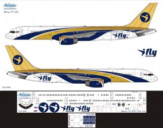 Декаль на самолет боенг 757-200 (I fy)