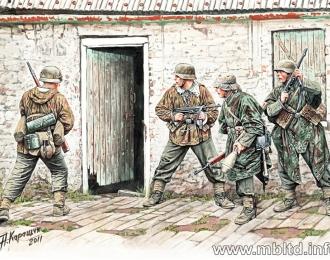Сборная модель Немецкая пехота в Западной Европе, 194-1945 гг.