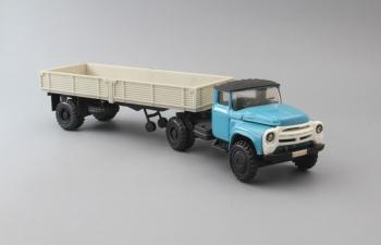 ЗИЛ-130В1 с полуприцепом ОДАЗ-885, голубой / черный /серый