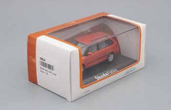 SKODA Fabia II (2007), tangerine orange met