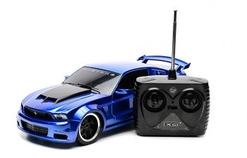 FORD Mustang Boss AA на радиоуправлении, blue