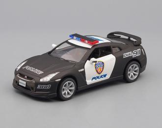 NISSAN GT-R R35 Police (2009), black / white