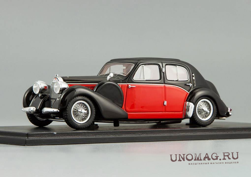 BUGATTI 57 Galibier 1939, black / red